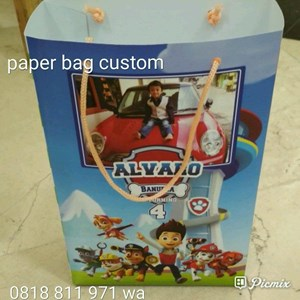 Souvenir Paperbag Uk 16x24x6 Art Carton Tema Pawpatrol