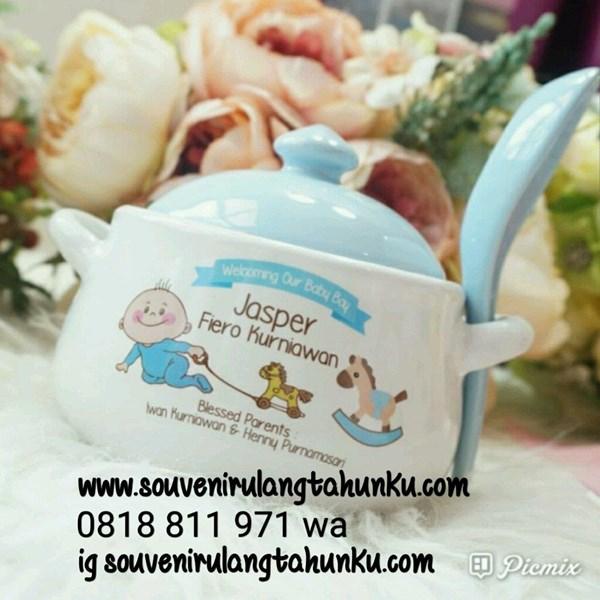 Souvenir Mangkok Sup dan Sendok
