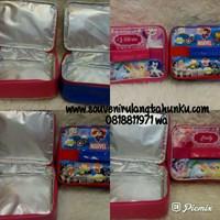 Souvenir Tas Lunchbox Kotak Persegi with Alumunium Foil