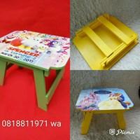 NEW Souvenir Meja Lipat Printing Kayu