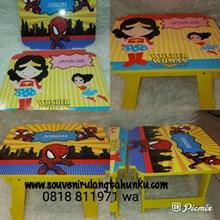 Souvenir Meja Lipat Printing Kayu