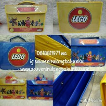 Souvenir Map Holder Folio Dengan Nama Tema Lego