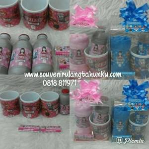 Paket Souvenir Mug Handuk Label Sport Kitkat dan Susu Tema Paw Patrol