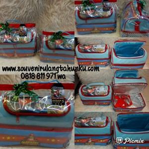 Souvenir Tas Lunchbox Double Decker Rumah Tema Supermario Kart