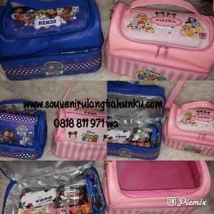 Souvenir Tas Lunchbox Double Decker Rumah Tema Paw Patrol