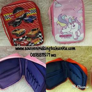 Souvenir Art Case Tema Hotwheels dan Unicorn