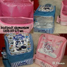 Souvenir Ransel Double Decker with Alumunium Foil