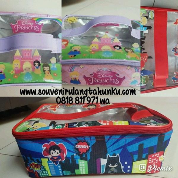 Souvenir Tas Lunchbox Printing Mika Transparant with Alumunium Foil
