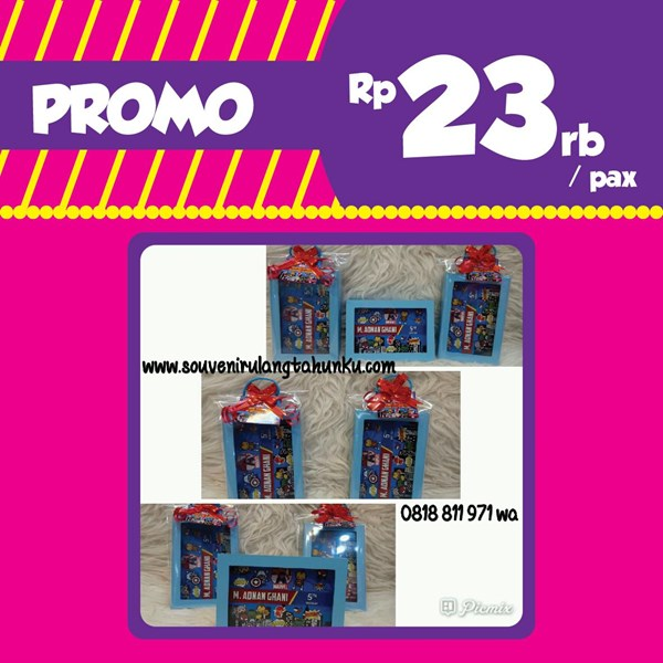 Promo Souvenir Frame dan Wrapping