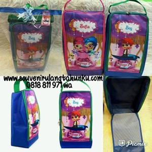NEW Souvenir Shoes Case Theme Shimmer and Shine