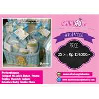 Paket Souvenir Rotan Tempat Majalah Frame Toples Handuk Sabun Cookies Baby Coklat Bola