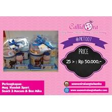 Paket Souvenir Mug Handuk Sport Snack 3 Macam dan