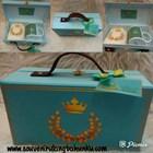 Paket Souvenir Box Koper Rotan dgn Handuk Bordir dan Mug Printing 1