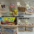 Souvenir Kotak Tisu Rotan Persegi Tanpa Snack 1
