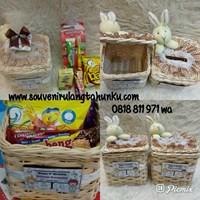 Souvenir Kotak Tisu Rotan Persegi Tanpa Snack