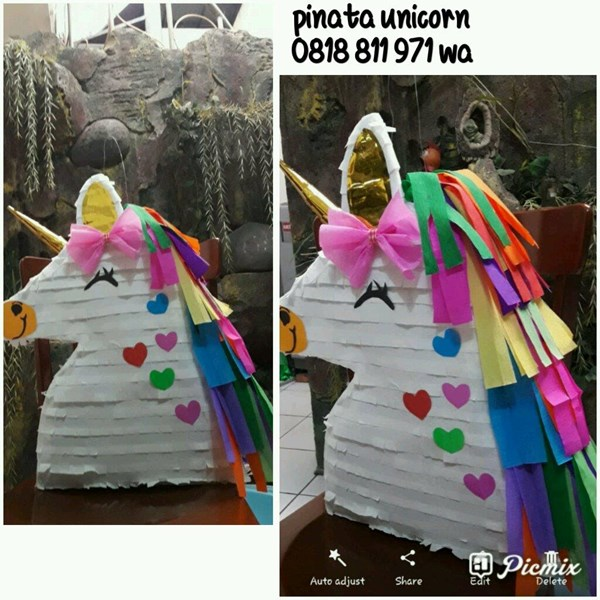 Souvenir Pinata Unicorn 2D