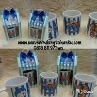Souvenir   Mug litle pony Unicorn Doraemon