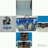 Souvenir  Box Koper 35 x 25 + Mug + Handuk Bordir