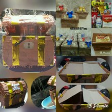 Souvenir kotak plastik full print + snack 8mcm
