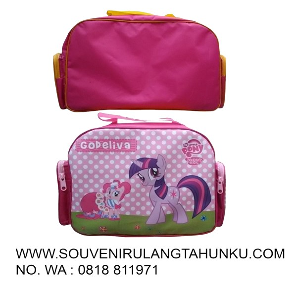 Souvenir litle pony pink  travel bag mini foam