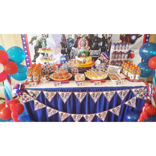 mis Captain amerika desert table /captain amerika party