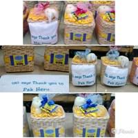 souvenir tempat tissue dan handuk bordir tulisan