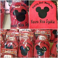 Mickey embroidery towel 30rb