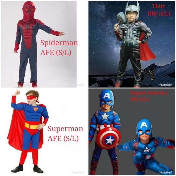 Souvenir Kostum Super Hero