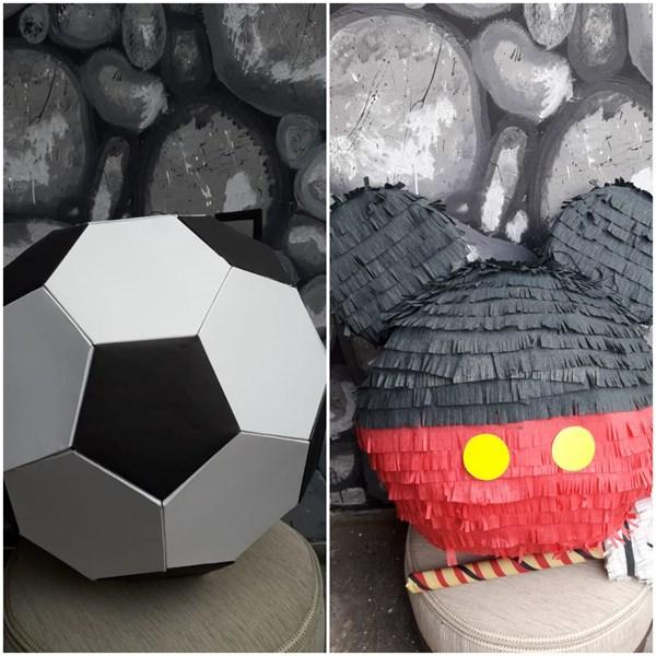 Souvenir Pinata Bola atau Kepala Mickey