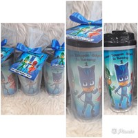 Custom tumbler with tile wrap