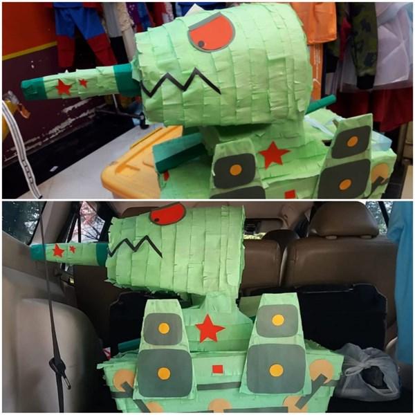 Souvenir Pinata Tank 3D (Bentuk Custom Sesuai Tema)