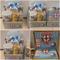 Souvenir ulang tahun Kotak Kaleng + Mug + Snack (Tema bebas bisa request)