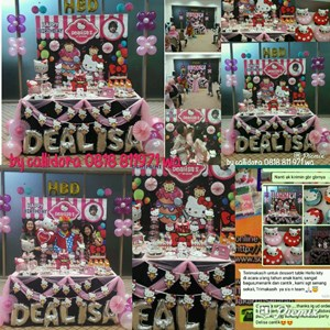 Dealisas Birthday Party with Dessert Table Hello Kitty Theme