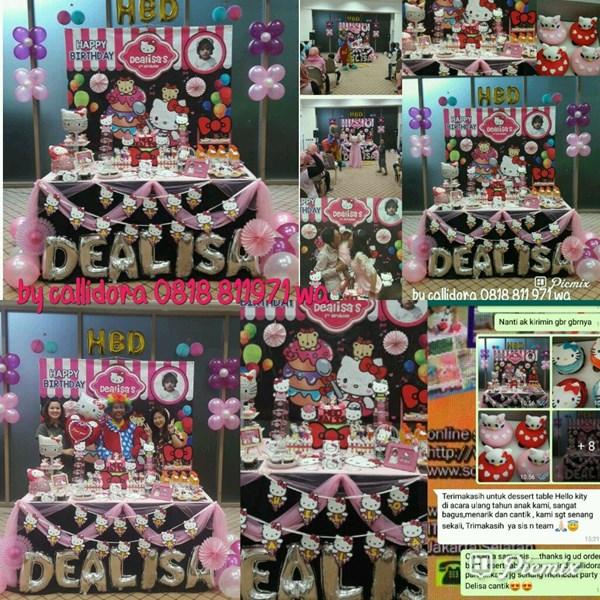 Dealisas Birthday Party with Dessert Table Hello Kitty Theme