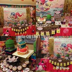 BIRTHDAY PARTY ORGANIZER PESTA ULANG TAHUN DENGAN DESSERT TABLE TEMA BISA REQUEST