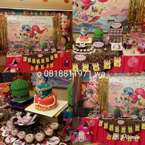 BIRTHDAY PARTY ORGANIZER PESTA ULANG TAHUN DENGAN DESSERT TABLE TEMA BISA REQUEST