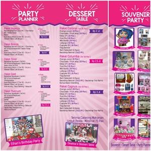 Pesta Ulang Tahun tema PJ Mask Paket Corona