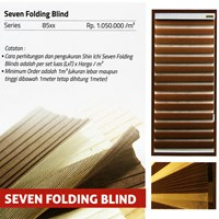 SEVEN FOLDING BLINDS  SHINICHI