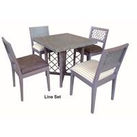 Toro Line Table & Chairs Set