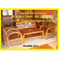 Ovallia 211 Guest Chairs Teak 1
