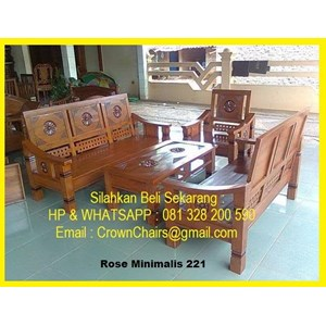 Export Jati Rose Minimalis 221 Guest Chairs Indonesia