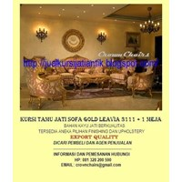 Sofa Tamu Gold Leavia