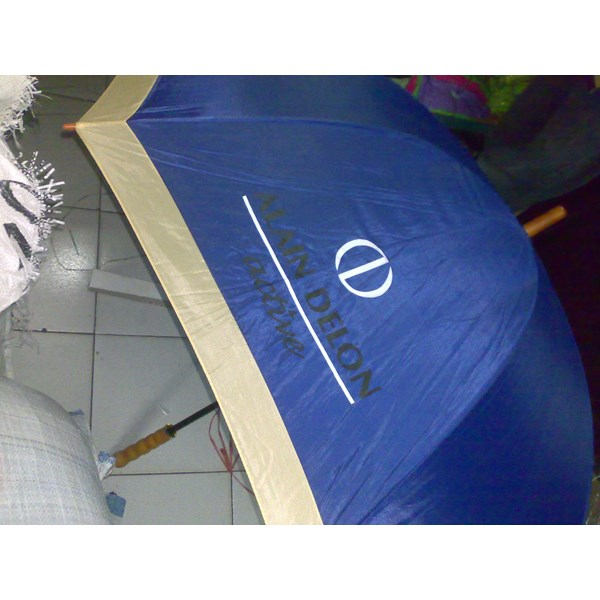 a variety of promotional umbrellas