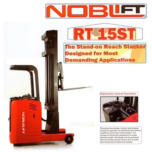 Electric Reach Stacker For Rack with Battery.