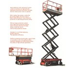 Electric Scissor Lift work platform. 2
