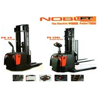 Jual ForkLift Stacker Electric with Battery.