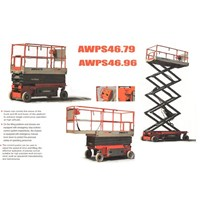 Jual Electric Scissor Lift Electric Work Platform 16 meter.