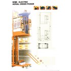 Electric Aerial Order Picker with battery 2