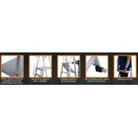 Tangga Aluminium - Aluminium Platform TROLLEY Ladder.