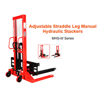Adjustable Straddle Leg Manual Hydraulic Stacker